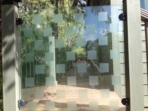 Birdtape in squares.